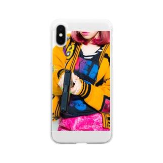 grumble gun  girl  Clear smartphone cases