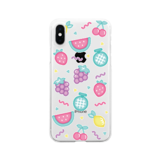 natsukoのfruits iPhone case Clear smartphone cases