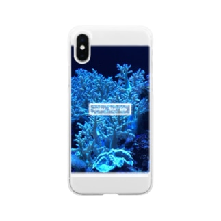 under the sea 珊瑚 Clear smartphone cases