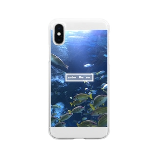 under the sea さかな Clear smartphone cases