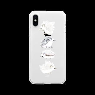 watariの鉱石ねずみ Clear smartphone cases