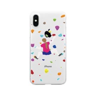 ボルダリングな娘 Clear smartphone cases