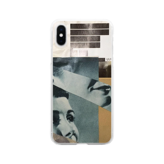 wtmy shopのcollage Clear smartphone cases