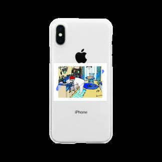 kameのねことわたしとわたしのお部屋 Clear smartphone cases