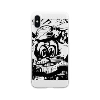 あるぱかくん Clear smartphone cases