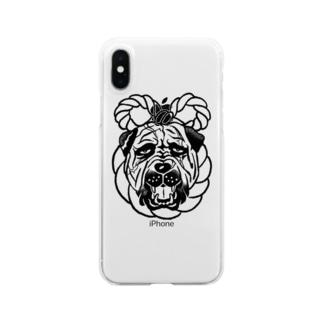 土佐犬 Clear smartphone cases