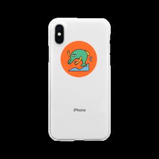 茶シブの自撮りイルカ Clear smartphone cases