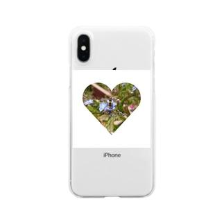 フラワーbee Clear smartphone cases