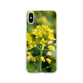 菜の花 Clear smartphone cases