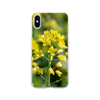 akane_artの 菜の花 Clear smartphone cases