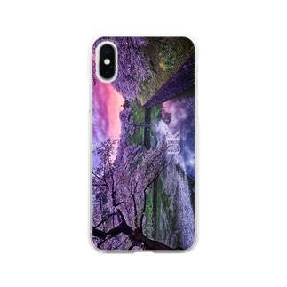 春のトワイライト -UKロゴあり- Clear smartphone cases