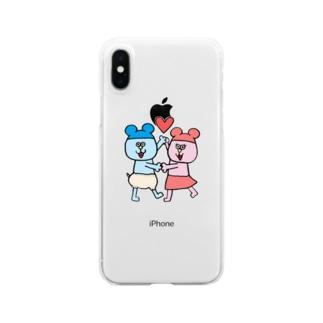 ねんたん&ねみこちゃん Clear smartphone cases