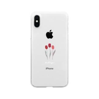 チューリップ(clear) Clear smartphone cases