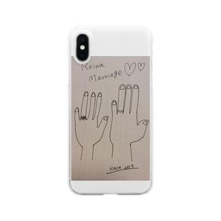 令和婚マリッジリングハンド Clear smartphone cases