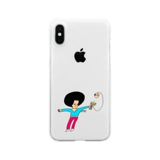 けん玉ドリル Clear smartphone cases