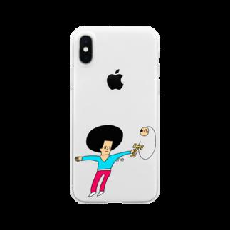 花くまゆうさくのけん玉ドリル Clear smartphone cases
