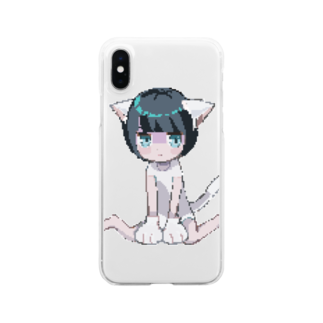 momowaltzのnyan.dot Clear smartphone cases