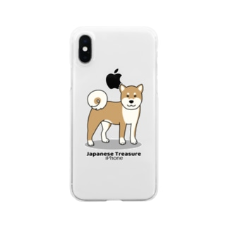 shiba1 Clear smartphone cases
