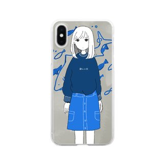 泳(ei)の青 Clear smartphone cases