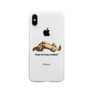 ダックス2チョコタン Clear smartphone cases