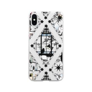 書架の切り絵 Clear smartphone cases