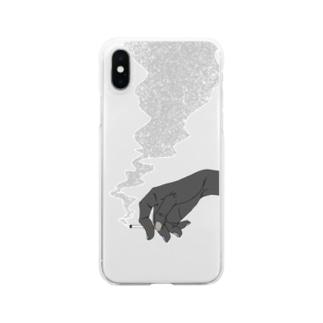 喫煙 Clear smartphone cases