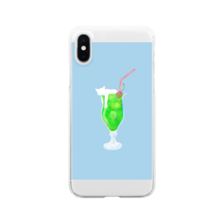 お寿司のクリームソーニャ - cream soda cat -  Clear smartphone cases