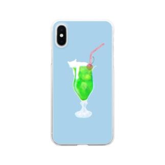 クリームソーニャ - cream soda cat -  Clear smartphone cases