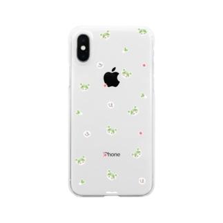 かわいい小柄(おねぎ) Clear smartphone cases