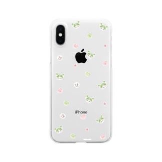 かわいい小柄(お砂糖) Clear smartphone cases