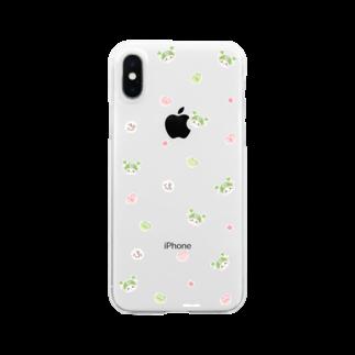 ふっかちゃんグッズショップのかわいい小柄(お砂糖) Clear smartphone cases