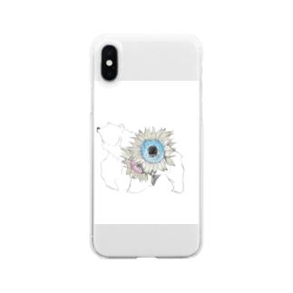 しろくまくん Clear smartphone cases