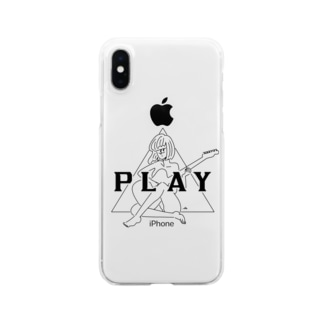 PLAY GIRL/白ボディ推奨 Clear smartphone cases
