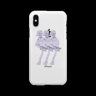 りももんがのKAPPAMAKI_girls Clear smartphone cases