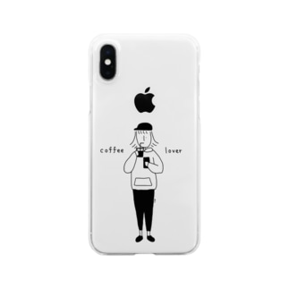 coffee lover Clear smartphone cases