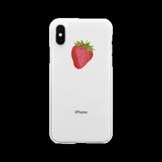 オハデザインのいちご Clear smartphone cases