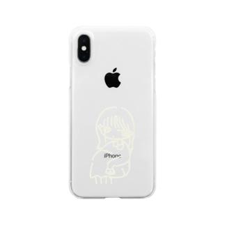 待ってる女の子 Clear smartphone cases