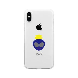 宇宙人うんち Clear smartphone cases