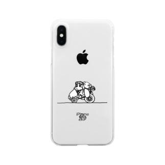 わんたんマシーンクリアスマホケース Clear smartphone cases