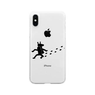 キリンの首泥棒 Clear smartphone cases