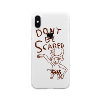 D3のDon't Be Scared Clear smartphone cases