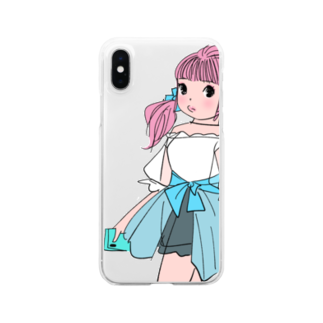 kaeruco(* 皿 *)のピクニックガール Clear smartphone cases