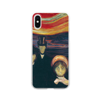 Art Baseのムンク / 不安 / Anxiety / Edvard Munch / 1894 Clear smartphone cases