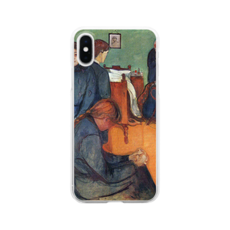 Art Baseのムンク / 病室での死 / Death in the sickroom / Edvard Munch/1893 Clear smartphone cases