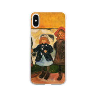 Art Baseのムンク / 1903 / Four girls in Arsgardstrand /Edvard Munch Clear smartphone cases