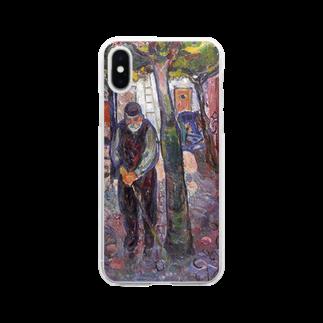 Art Baseのムンク / Old Man in Warnemunde / Edvard Munch / 1907 Clear smartphone cases