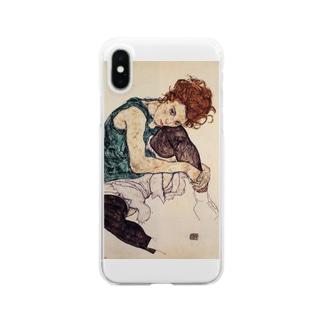 エゴン・シーレ / 1917 / Seated Woman with Bent Knee /Egon Schiele Clear smartphone cases