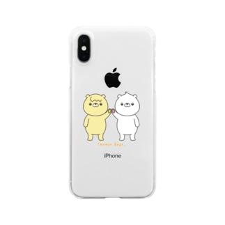 ちーずべあのスマホケース Clear smartphone cases