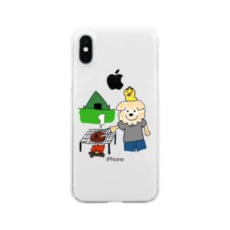 はるやんとぴよまるのBBQ Clear smartphone cases