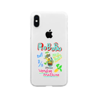 ROBOBO🤖「パオロボ」 Clear smartphone cases